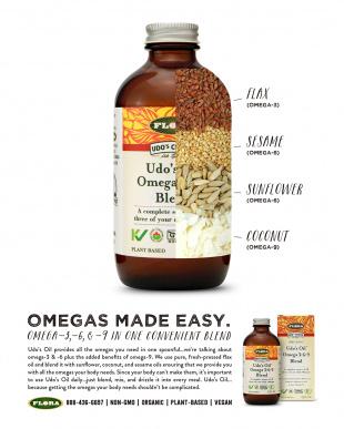 ウドズ・オイルUdo's Oil Omega 3+6+9 blend  250mL 2本セット(お一人様3セットまで)を見る