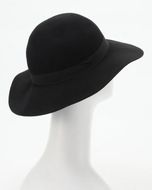 ブラック フェルト女優帽を見る
