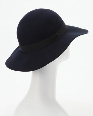 ネイビー フェルト女優帽を見る