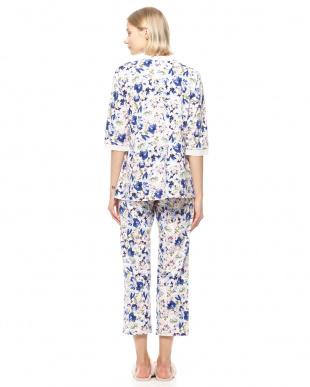ブルー 天竺フラワリウムPtパジャマを見る