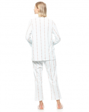 サックス 19ストライプフラワー天竺パジャマを見る