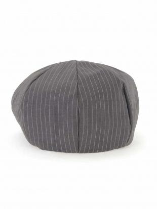 グレー ピンストライプ柄ベレー帽 a.v.v HOMMEを見る