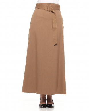 CAMEL ベルト付きマキシスカートを見る