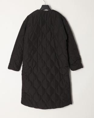 ブラック 高密度タフタキルティングコートを見る