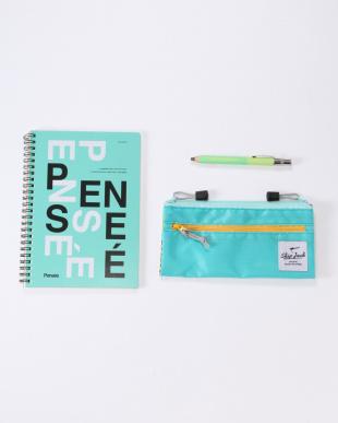 フォールディングペンケース/ノート・A5/パンセ+木軸ボールペン 太 1.0mm クリップ付を見る