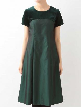 グリーン シャンブレータフタドレス HIROKO BISを見る