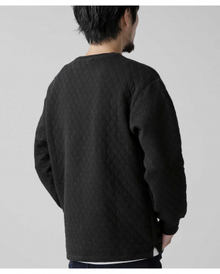 ブラック キルト裾スリットプルオーバー ナノ・ユニバースメンズ(オリジナル)を見る
