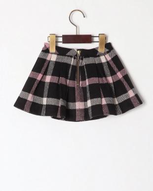 クロ wool like check skirtを見る