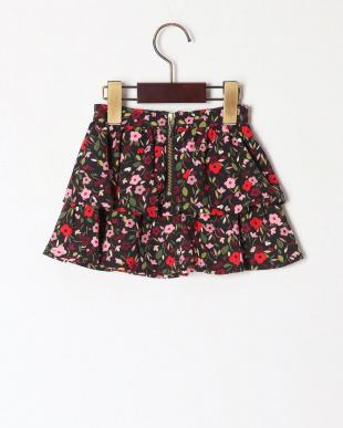 マルチ  georgette crepe floral skirtを見る