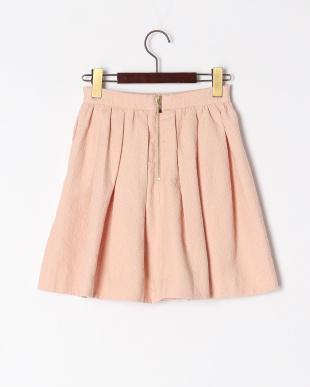 L・ピンク  flower jaquard skirtを見る
