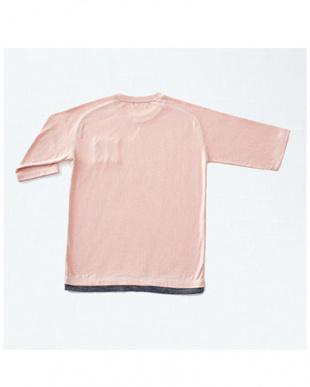ピンクモク 5分袖Tシャツを見る