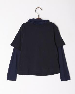 ネイビー 【swap meet market】ハイネックレイヤードTシャツを見る