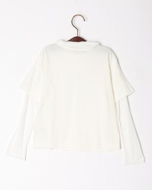 ホワイト 【swap meet market】ハイネックレイヤードTシャツを見る
