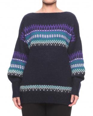 ネイビー  セーターを見る