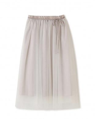 ホワイト |Ray 10月号掲載|ボリュームチュールロングスカート Jill by Jill リプロを見る
