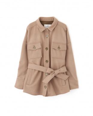 ブラウン |andGIRL 10月号掲載|◇フェルトモッサシャツジャケット Jill by Jill リプロを見る