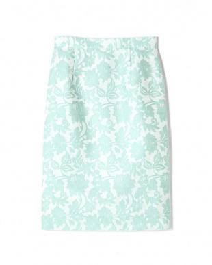 ライトグリーン フラワークロスジャガードスカート PINKY & DIANNEを見る