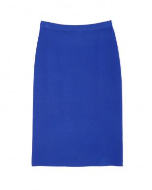 ブルー ミラノリブニットスカート PINKY & DIANNEを見る