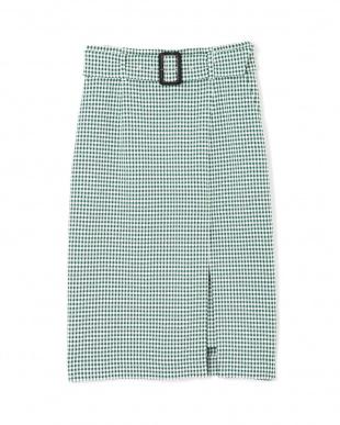 グリーン1 ◆ギンガムストレッチラップレイヤードスカート PINKY & DIANNEを見る