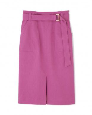 ピンク1 綿麻スラブアウトポケットスカート PINKY & DIANNEを見る