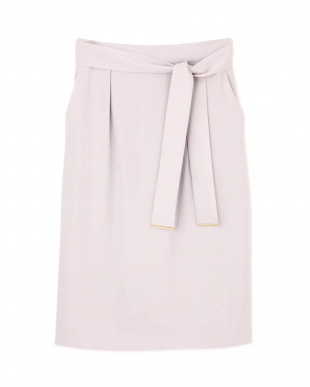 グレー [ウォッシャブル]ウエストリボンセットアップスカート PINKY & DIANNEを見る