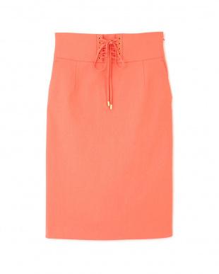 ピンク [ウォッシャブル]ハトメレースアップタイトスカート PINKY & DIANNEを見る