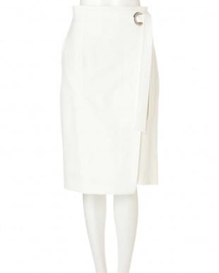 ホワイト ワイドハトメラップリボンスカート PINKY & DIANNEを見る
