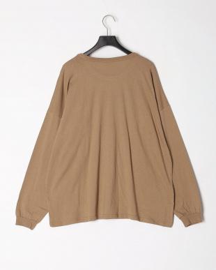 16-ブラウン オーバーサイズ長袖Tシャツ(大人)を見る