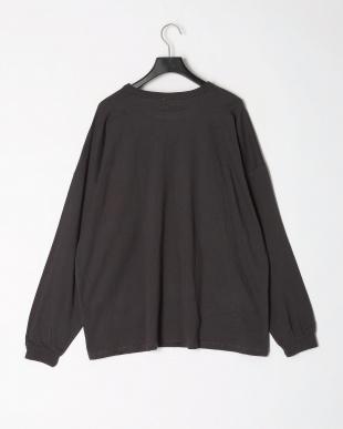 1-ブラック オーバーサイズ長袖Tシャツ(大人)を見る