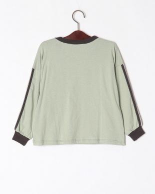 11-カーキ オーバーサイズ長袖Tシャツを見る