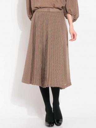 パープル 【セットアップ対応】チェックプリーツデザインスカート MICHEL KLEINを見る