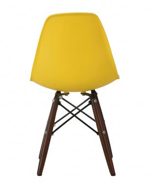 クリームイエロー イームズタイプ キッズシェルチェア DSWタイプ ブラウン脚  座面高さ33cmを見る