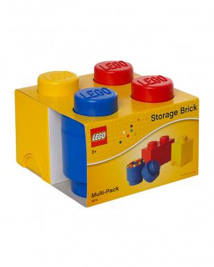 ミックス(レッド、ブルー、イエロー)  レゴ ストレージボックス ブリック マルチパック3セットを見る