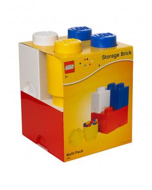 ミックス(レッド、ブルー、イエロー、ホワイト)  レゴ ストレージボックス ブリック マルチパック4セットを見る
