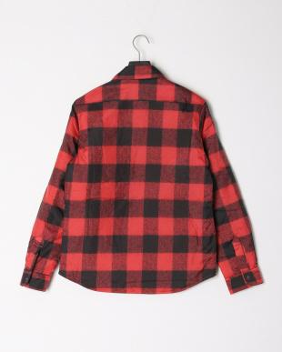 レッド VOTE for RHC チェック 中わたパッチ ダブルポケット 長袖シャツを見る