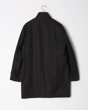 ブラック  中綿ライナー付スタンドカラー 比翼コートを見る