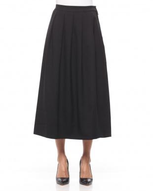 98/無彩色I(ブラック) タックアクセント ロングスカートを見る