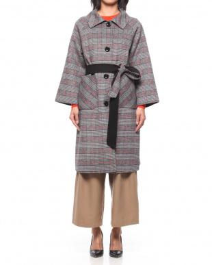 98/無彩色I(ブラック) ロンドン 共布べルト付 リバーシブル ロングコートを見る