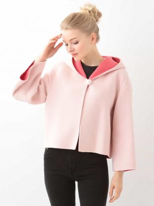 ピンク フーディーケープジャケット TARA JARMONを見る