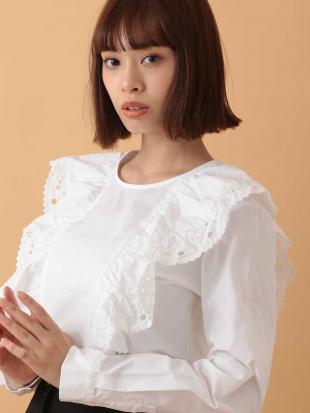 ホワイト アイレット刺繍ブラウス TARA JARMONを見る