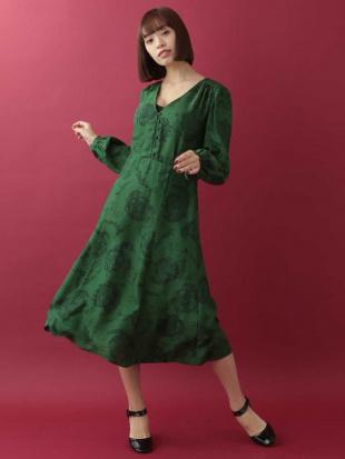 グリーン プリントデザインドレス TARA JARMONを見る