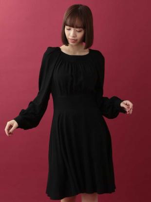 ブラック レーヨンギャザードレス TARA JARMONを見る