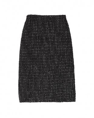 ブラック ツイードタイトスカートを見る
