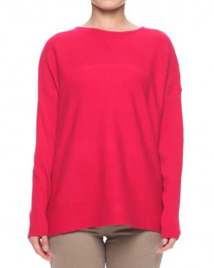 ピンクベージュ もっちりニットセーターを見る