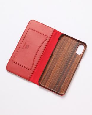 チェリーピンク PEBBLY(ぺブリー)チェリーピンク iPhoneX/XS 兼用イタリアレザー 木製ケースを見る