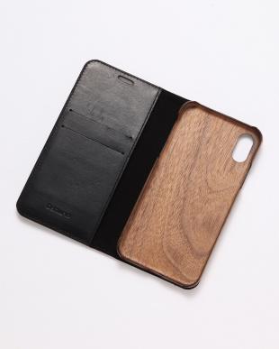 ブラック×シルバー GLEAM(グリーム)ブラック×シルバー iPhoneX/XS 兼用イタリアレザー 木製ケースを見る