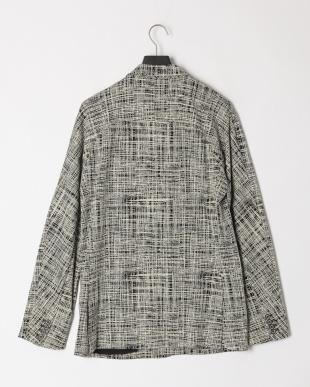 ホワイト×ブラック Stretch jacquard double breasted jacketを見る