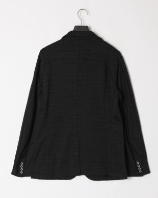 ブラック×ブラック Stretch jacquard single breasted jacketを見る