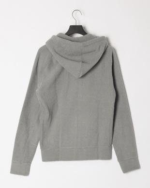 グレー Terry cloth fleece hoodieを見る