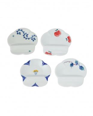 花絵 4枚組箸置付小皿を見る
